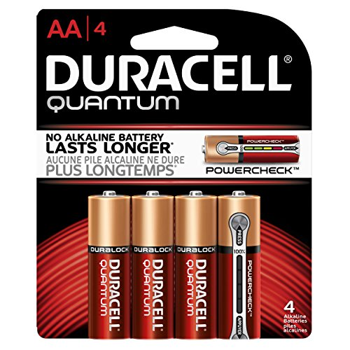Duracell Quantum 4 Count Alkaline AA Batteries, 0.24 Pound