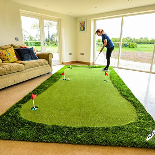 - FORB Professional Putting Mat - Practise Your Putting Skills with This Golf Putting Mat - [Net World Sports] (X-Large)
