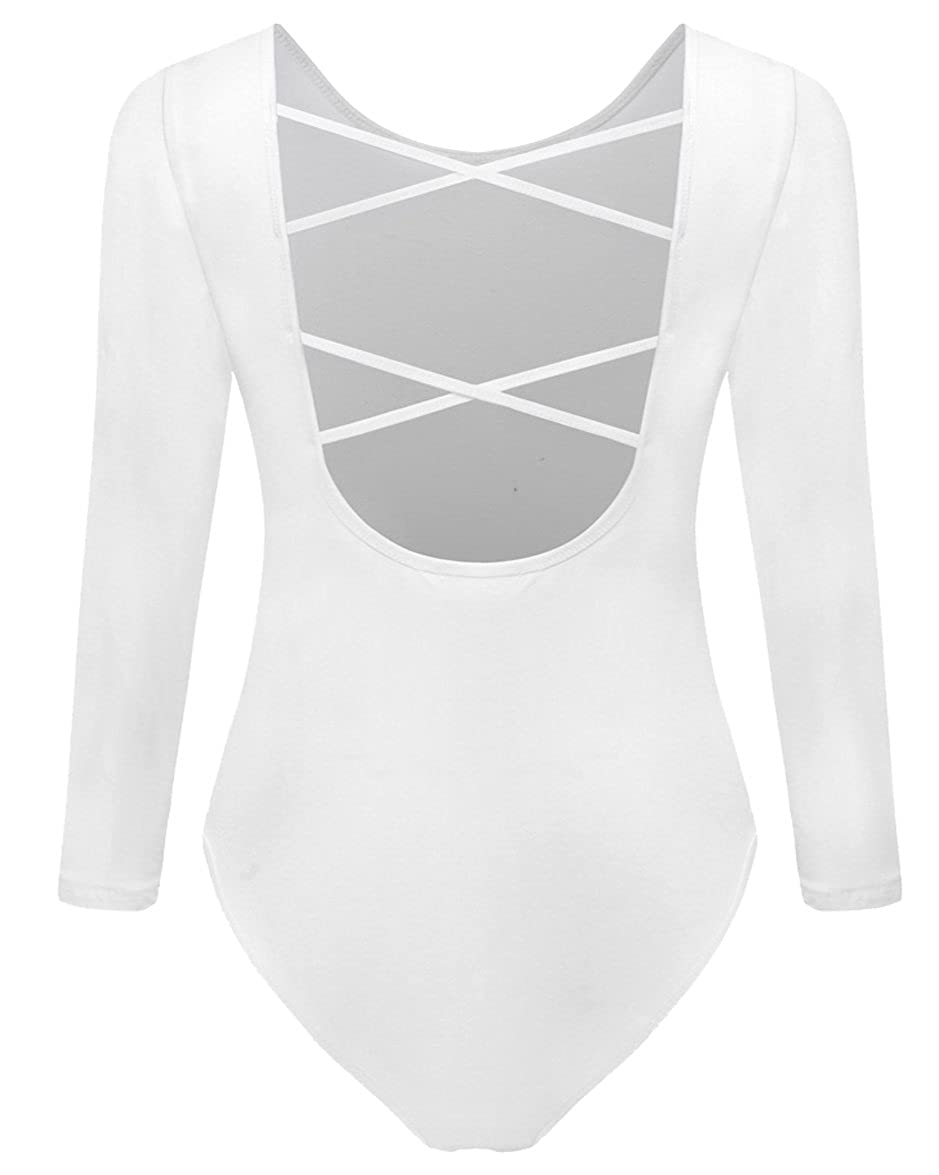 White SUNRO Women's Sexy Long Sleeves Bodysuits Jumpsuits