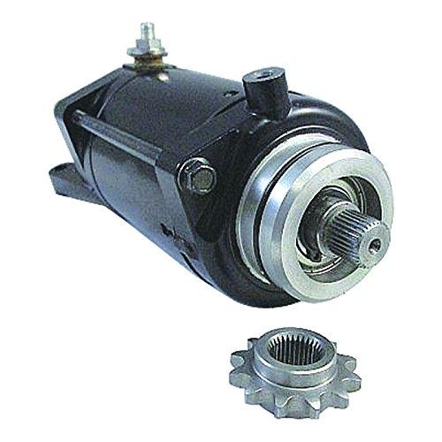 (New OEM Starter Fits Kawasaki EN450A 454 LTD EX500 Ninja 500R 1985-2009 Kawasaki 21163-1070 21163-1163, Mitsuba SM-8239)