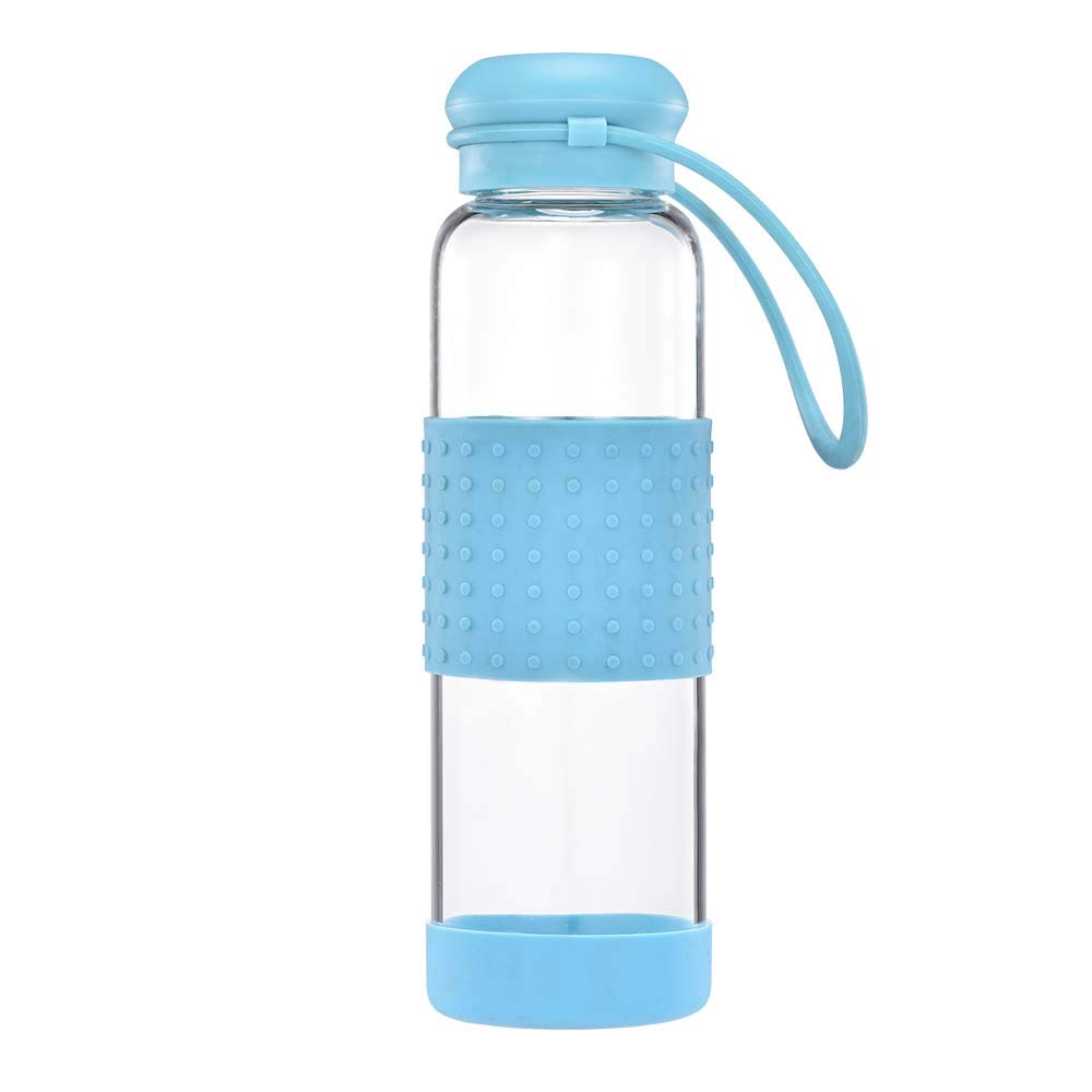 Ltd KEYI 18Oz BAP Free Glass Water Bottle with Leakproof Classic Cap and Silicone SLeeve KEYI Industry and Trade Co