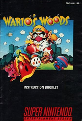 wario s woods snes instruction booklet super nintendo manual only rh amazon com snes instruction manual scans snes instruction manual scans