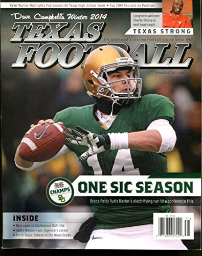 2014 Dave Campbell's Texas Football Magazine Winter Bryce Petty Baylor VG 22580