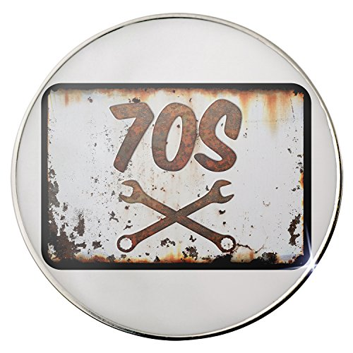 [Floating Plate Charm for Glass Locket - Rusty old look car 70s backplates by Neonblond] (70s Look For Women)