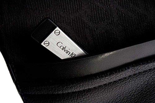 Calvin Klein–Men 's Shoulder Bag Tom Logo Messenger Black
