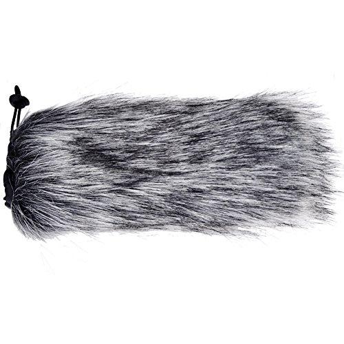 Mic Muff (Artificial Fur Wind Shield - 20 X 5cm- Furry Mic Cover Outdoor Microphone Furry Windscreen Muff for Camera Recorder Rode Shotgun Video Rode Go Mics)