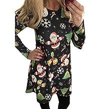 Halloween Costume, Kimloog Women Skull Floral Print Long Sleeve Hallowmas Party Casual Funny Short Mini Dress