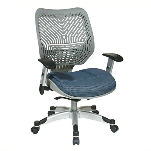 SPACE REVV Series - Self Adjusting Ice SpaceFlex Back Chair and Shadow Mesh Seat Back/Seat Type: Fog
