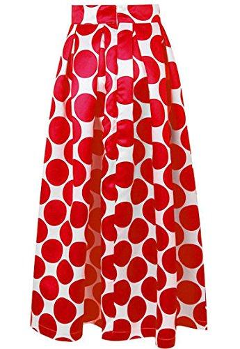 ARRIVE GUIDE Womens Summer Vintage Polka Dot Print High Waist Swing Skirt for sale Pr5nS6nD