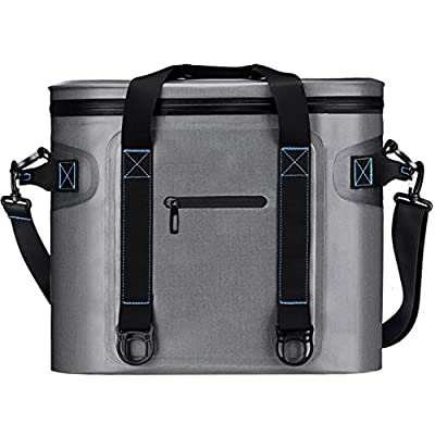 Homitt Soft Cooler Bag Insulated Soft Sided Cooler Hard Liner Heavy Duty Waterproof TPU Material Taking Lunch, Camping, Sea Fishing, Trip to Beach, Picnic, etc.