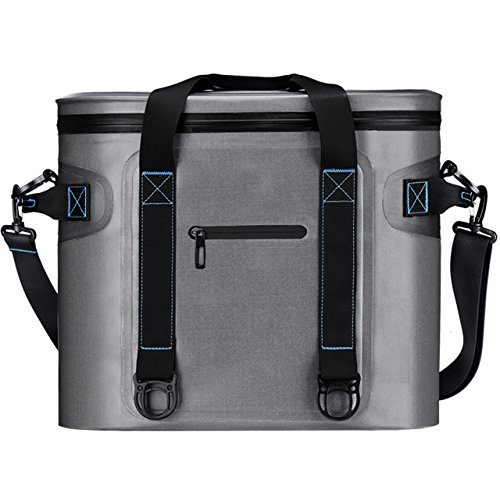 Homitt Soft Cooler 20 Can Soft Pack Cooler Insulated Soft Sided Cooler with Heavy Duty Leakproof TPU Material and Closed-Cell Foam for Taking Lunch, Camping, Picnic, Sea Fishing, Trip to Beach