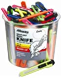 Allway Tools K13-50 9mm Snap Off Neon Knife Bucket, 50 count