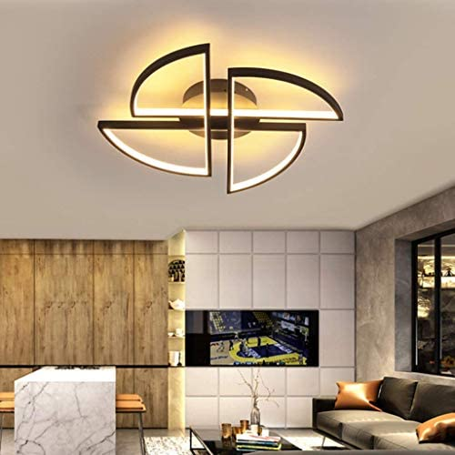 Living Room LED lamp Chic Modern Ceiling lamp Pinwheel Dimmable Ceiling lamp, Bedroom with Remote Control Silicone lampshade Design for Dining Room Office lamp Kitchen, 80 cm