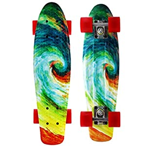 M Merkapa Complete 22 inch Cruiser Skateboard for Youth, Beginners