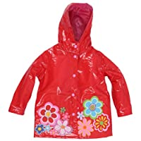 Sizes 12M-6X Wippette Girls and Infant Waterproof Hooded Watermelon Raincoat
