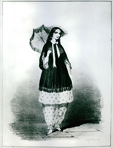 Bloomer Costumes (Vintage photo of The illustration of a original bloomer costume of 1851.)
