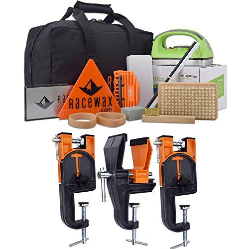 RaceWax Carver Ski Wax Tuning Kit Plus Ski Vise (Accepts Snowboard Adapter) by RaceWax
