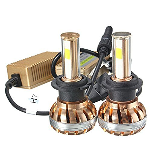 Car Headlamp, H4 120W COB LED Chip Headlight Kit Conversion Kit 6000K (Yellow Track Lighting Fixture)