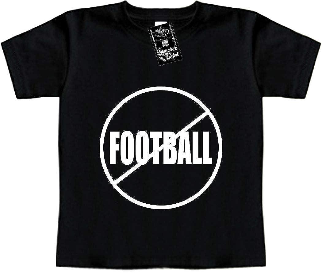 Anti-Football Funny Baby T-Shirt Toddler Tee Sport /& REC NO Football