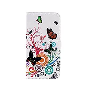 Silvercell Watercolor PU Leather Stand Flip Wallet Case Cover Pouch For HTC ONE 2 M8 Butterfly Flower