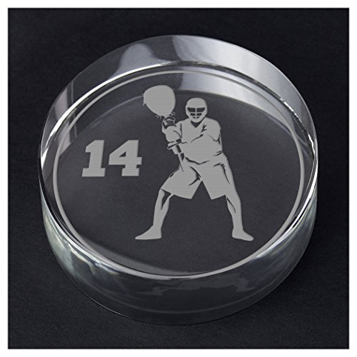 ChalkTalkSPORTS Guys Lacrosse Personalized Crystal Award Gift | Goalie Silhouette Custom Number by ChalkTalkSPORTS