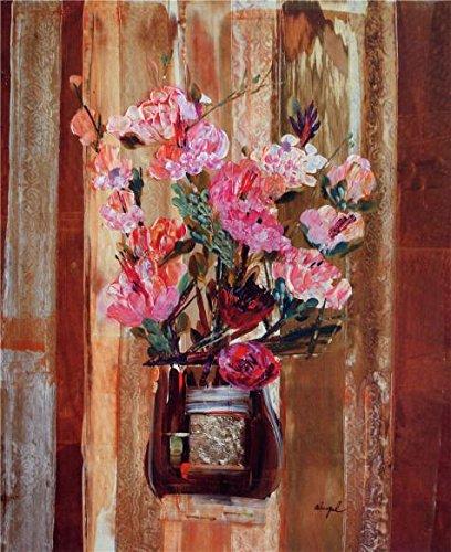 油彩画現代アートワーク花の抽象画`印刷ポリエステルキャンバスに、8x 10インチ/ 20x 25cm、最高の贈り物for女の子Friend and Boy Friendとホームデコレーションとギフトはこのが安いアート装飾アート装飾プリントキャンバスの商品画像