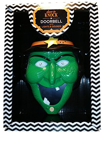 Two's Company Dare to Knock Doorbell with Lights & Sound (Green -