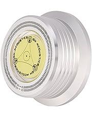 3 in 1 Record Clamp Record Weight Stabilizer 50Hz Turntable Disc Record Stabilizer Clamp met Waterpas voor LP Vinyl Turntables, Great Record Stabilizer voor LP Platenspeler (Zilver)