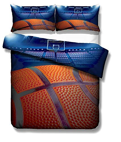 - REALIN Basketball Bedding Sports Theme Duvet Cover Set Fine Basketball Series Bed Sets Suitable for Teen Boys,2/3/4PCS Microfiber Quilt Covers/Sheets/Pillow Shams,Twin/Full/Queen/King Size
