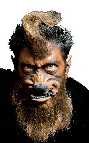 Woochie by Cinema Secrets Werewolf Face Latex Appliance, Multi, One (Werewolf Face)
