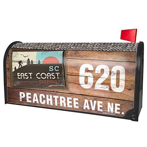 NEONBLOND Custom Mailbox Cover US Hiking Trails East Coast Greenway - South Carolina -