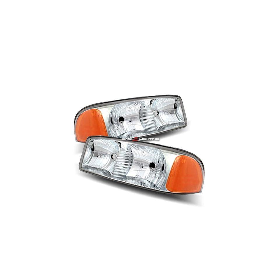 00 06 GMC Yukon / XL / SLT 01 06 GMC Yukon Denali / XL 99 06 GMC Sierra / Sierra Denali Chrome Crystal Housing Headlights