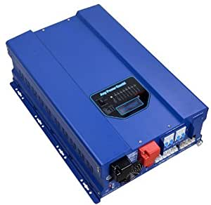 10000W Peak 30000W Pure Sine Wave Power Inverter Split Phase DC 24V AC Input 240V AC Output 120V and 240V Converter 60A MPPT Solar Charger Controller, Utility Transfer SW Inverter Charger Solar Power