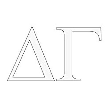 amazoncom express design group delta gamma greek letter window sticker decal automotive