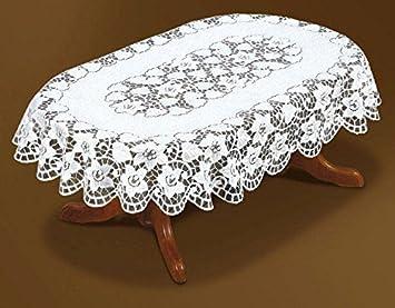 Good Oval, Lace, Cream Tablecloth NEW 51u0026quot;x71u0026quot; ...
