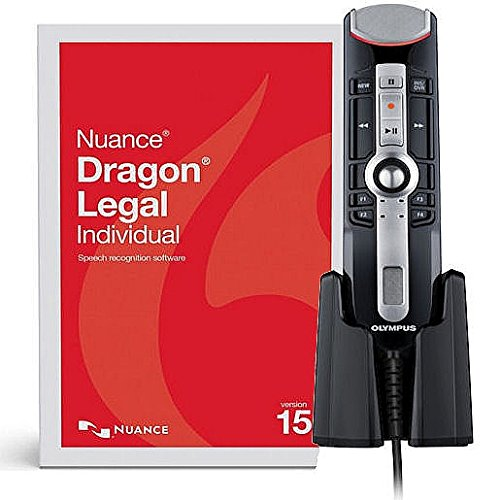 YBS Nuance Dragon Legal Individual Version 15 Speech Recognition Software wih RecMic II USB Professional PC-Dictation Microphone - Push Button Operation - Usb Legal
