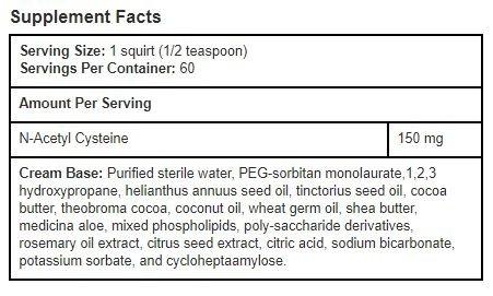 Zetpil N Acetyl Cysteine, NAC, Ultra Absorbable Cream, 6.5 Fluid oz
