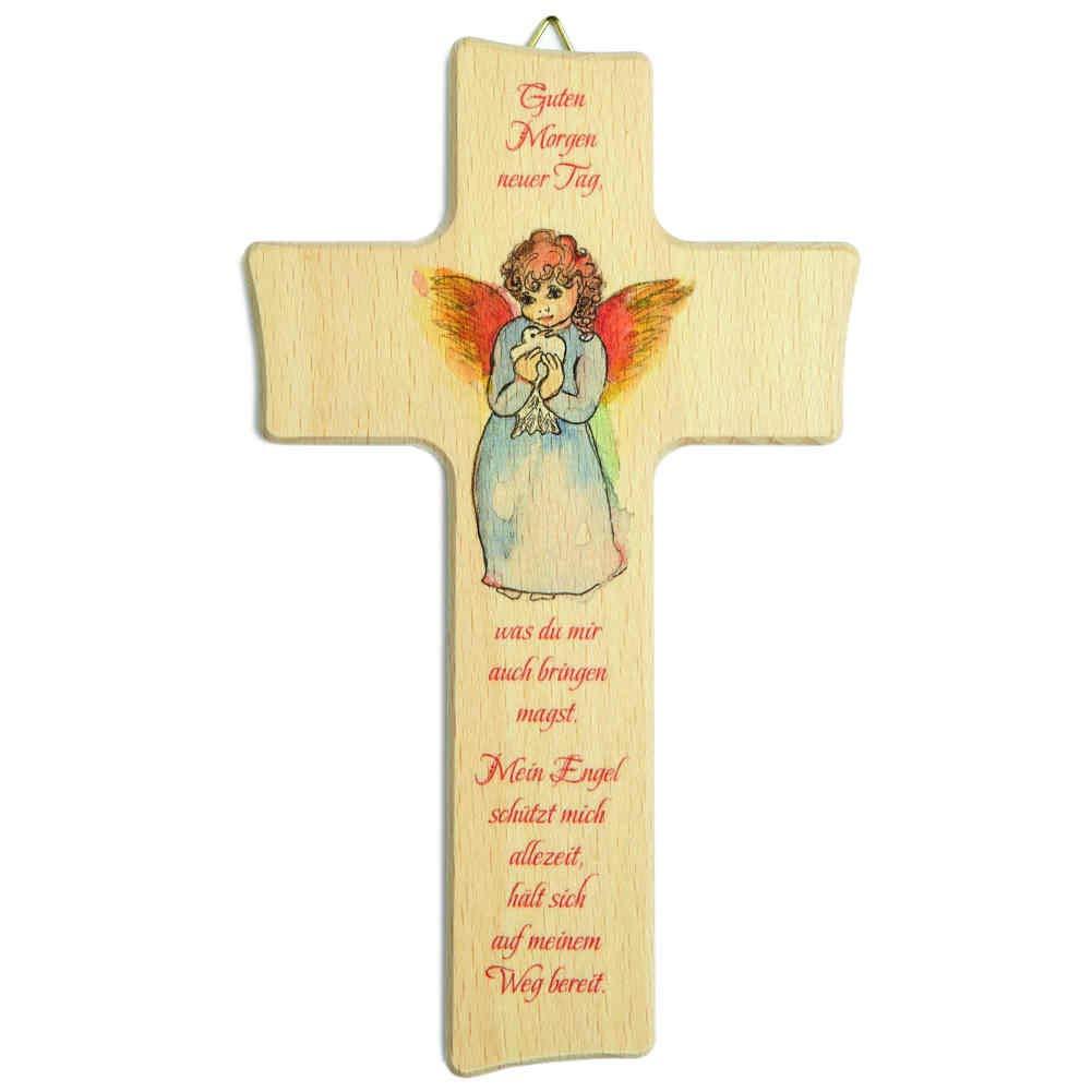 Kruzifix24 Devotionalien Kinderkreuz Guten Morgen Tag Motiv