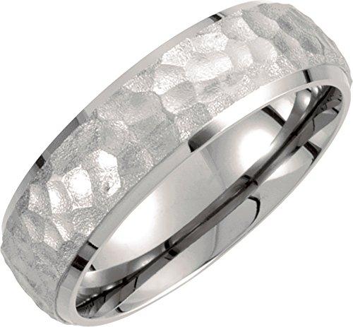 Hammered Wedding Ring (Mens Titanium, Hammered Finish Wedding Band (sz 7))