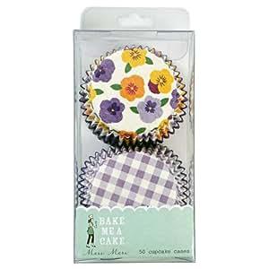Meri Meri Gingham/Pansies Caja para Cupcakes