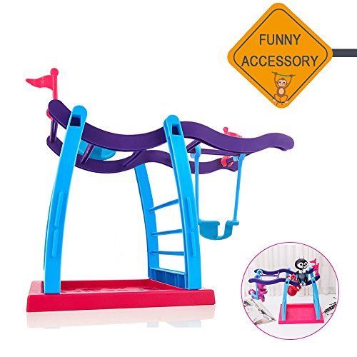 Isee Jimps Fingerling Monkey Swing Stand Bar Playground  Interactive Baby Monkey Playset For Fingerling Monkey Toy  Jungle Gym For Finger Baby Monkey  Without Monkey