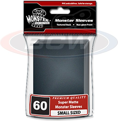 (30) Packs of Small Black Trading Card Sleeves - Monster Protectors - BCW-MSL-SMN-BLK by BCW