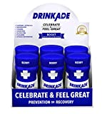 Cheap DrinkAde Boost (6 Pack of 3.4 oz Bottles) – Previously Never Too Hungover with Caffeine, Double B-12 -Sugar Free, Gluten Free, Carb Free & Low Calorie.