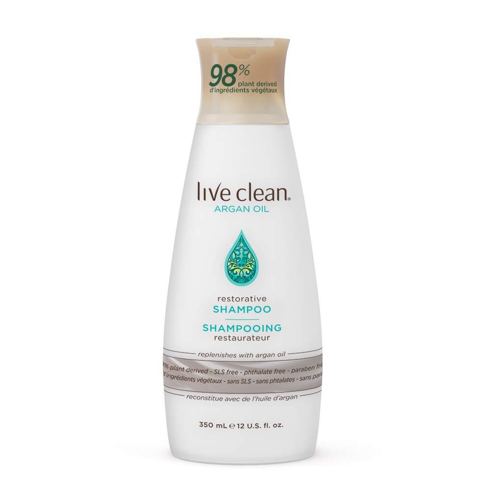 Live Clean Argan Oil Restorative Shampoo, 12 oz.