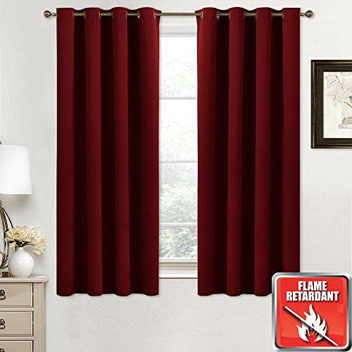NICETOWN Burgundy Blackout Curtains for Christmas - (Burgundy Red Color) 52