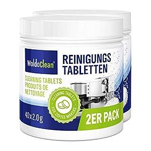 WoldoClean 2x 260x tablette de nettoyage pour machine à café entièrement automatiques pastille pastilles
