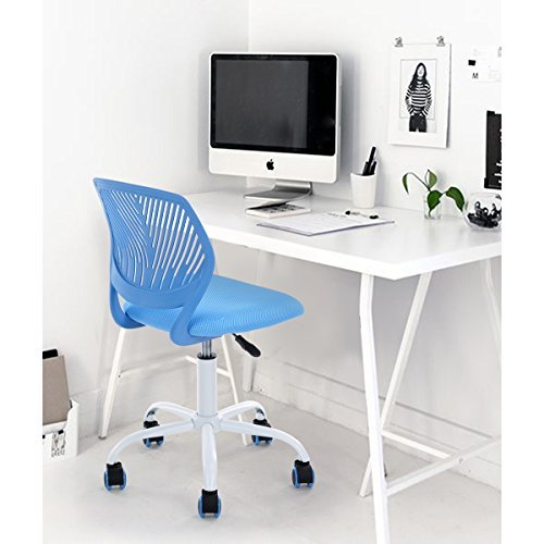 Blue office task adjustable desk chair mid back home for E home products