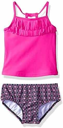 6032582e29f8d Carter's Baby Girls' Infant Fringe Top Tankini Swimsuit Set (3-6 Months)