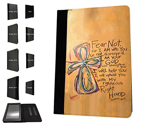 003088 - Bible prover Isaiah 41 Christian Quote Design Amazon Kindle Fire 7'' 5TH Generation (2015 Release Only) Flip Case Purse pouch Stand Cover