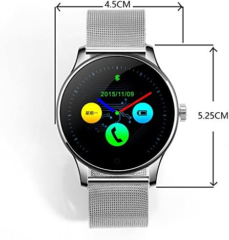 SEPVER All-in-1 K88h Smart Watch Round IPS Screen Bluetooth 4.0 Heart Rate Monitor Pedometer sync Calls and Messages Compatible with iPhone and ...